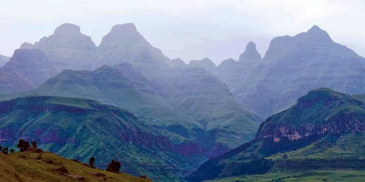 Cathedral Peak, Drakensberg Mountains, South Africa  (The 2nd highest peak in |Africa are found in the Drakensberg Mountains) By BBQBOY and SPANKY Blog