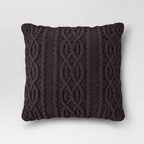 Update your accent chairs and couches with this Cable Knit Oversized Throw Pillow from Threshold™. This incredibly comfy and cozy throw pillow features an intricate cable knit pattern that will instantly make any chair or bed more warm and inviting. This oversized knit throw pillow channels classic Scandinavian style that pairs perfectly with any room that has a modern motif.