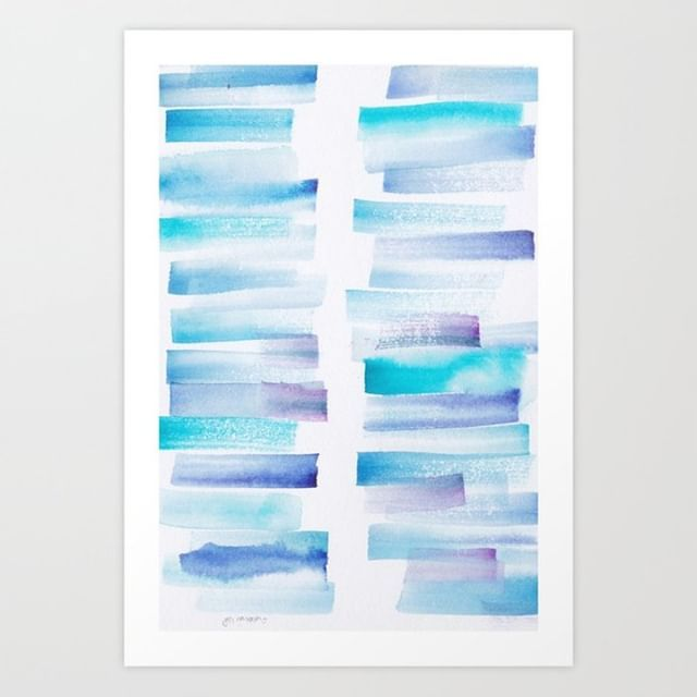 7 181101 Watercolour Palette Abstract Art Lines Stripes