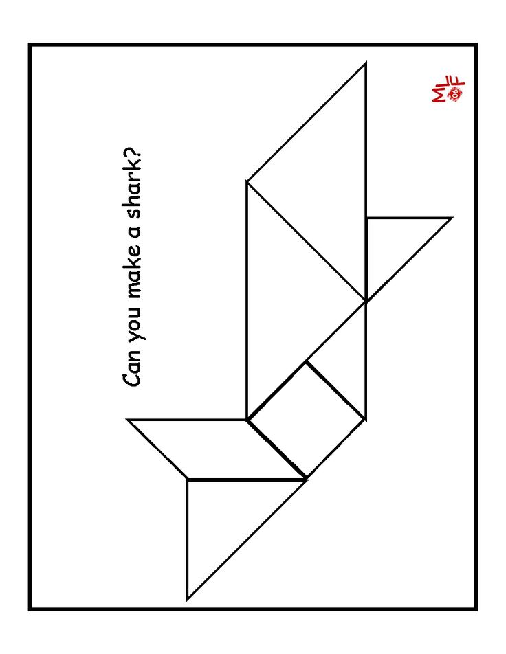 This is a picture of Effortless Tangram Puzzles Printable