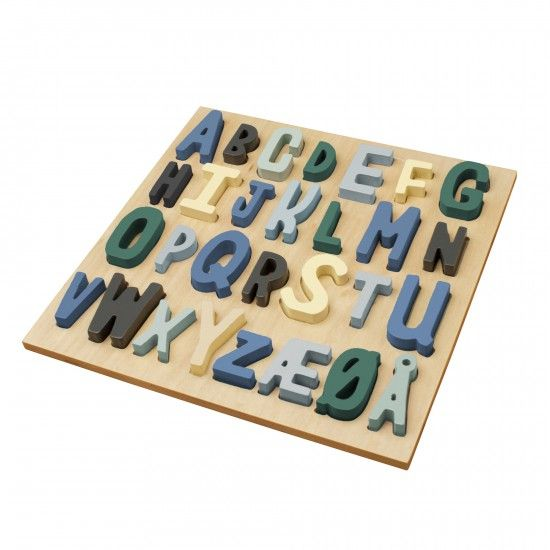Hölzernes Puzzle, ABC, Junge