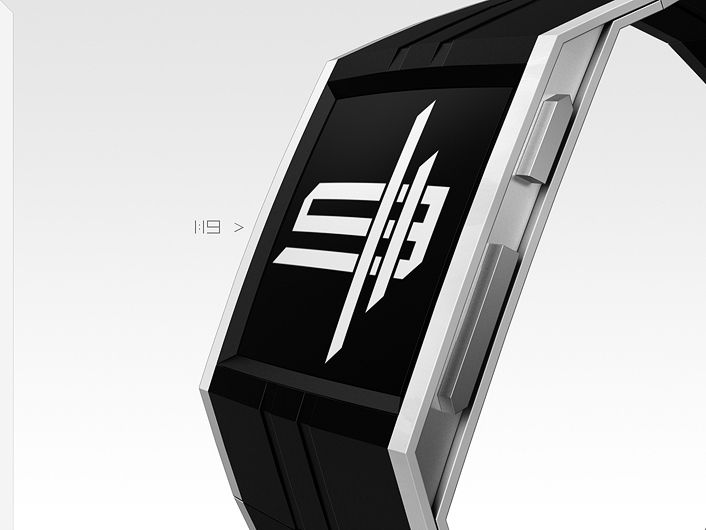 "A beautifully graphic watch design concept submitted to the Tokyoflash Design Studio Blog by Sam from Germany. ""I was scribbling around for a time display, that would be cool as tattoo or graffiti, some sort of iconic symbol that would draw it's justification from the look first, then by the hidden meaning. I suggest epaper with a color film because colors are fun and epaper has a nice artistic appearance."" #epaperwatch #epaper #coolwatch #watchdesign #beautifulwatch #unusualwatch…"