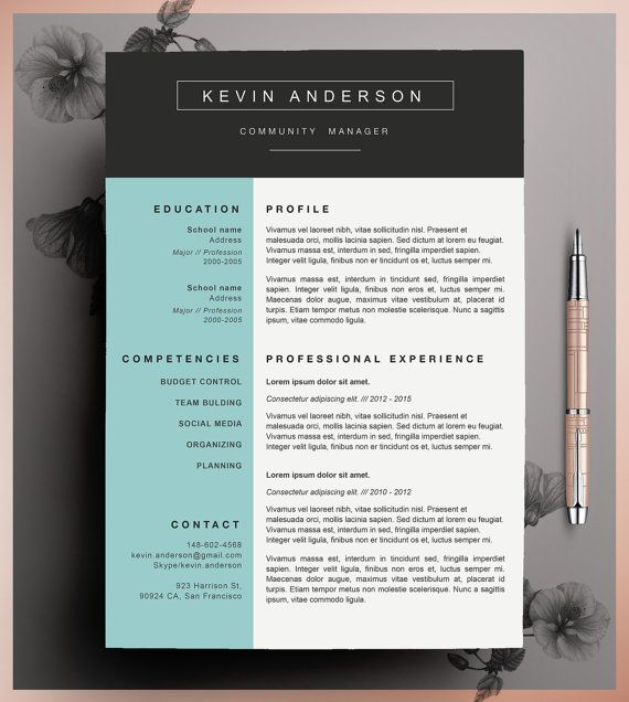 Best Bewerbung Images On   Cv Template Resume Design
