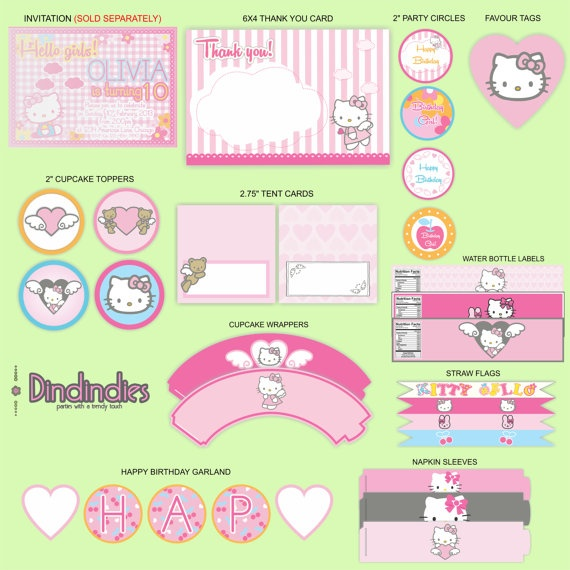 Diy Hello Kitty Birthday Decorations Image Inspiration of Cake