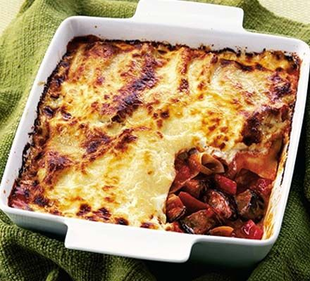 A light but luscious veggie lasagne to tickle your taste buds - it contains just 13g of fat compared to the more usual 19g