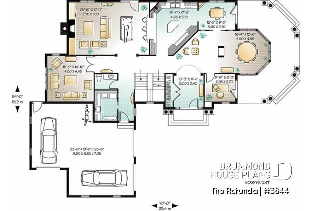 Discover The Plan 3844 The Rotunda Which Will Please You For Its 5 6 4 Bedrooms And For Its Cape Cod Styles In 2020 House Plans Country Style House Plans 6 Bedroom House Plans
