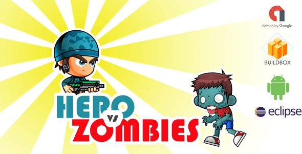 Download Hero vs Zombies Game- Buildbox Game Template + Android Eclipse Project Template Nulled Latest Version