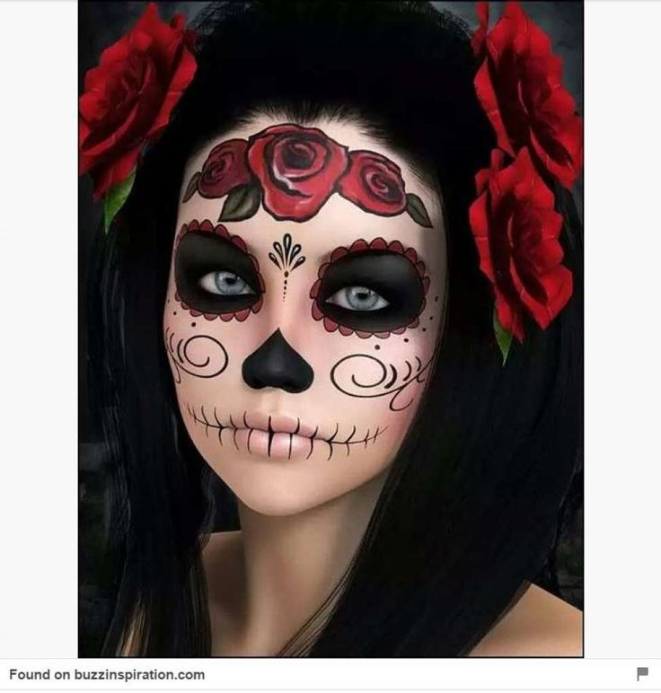 As residents prepare for Dia de los Muertos, we turned to Pinterest to help find inspired designs for sugar skull face painting. Photo: Pinterest