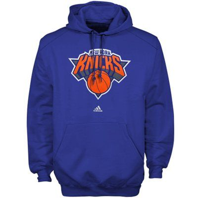 adidas New York Knicks Primary Logo Pullover Hoodie - Royal Blue