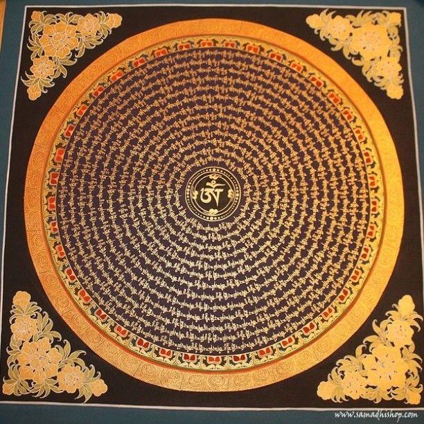 #mandala #mantra #ommanipadmehum #painting #handmade #nepal #tibet #buddhist #buddhism #OM