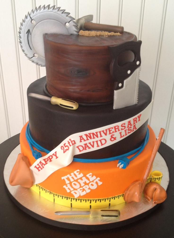 Tools Cake. Would be perfect for my dad for his birthday or Father's day!