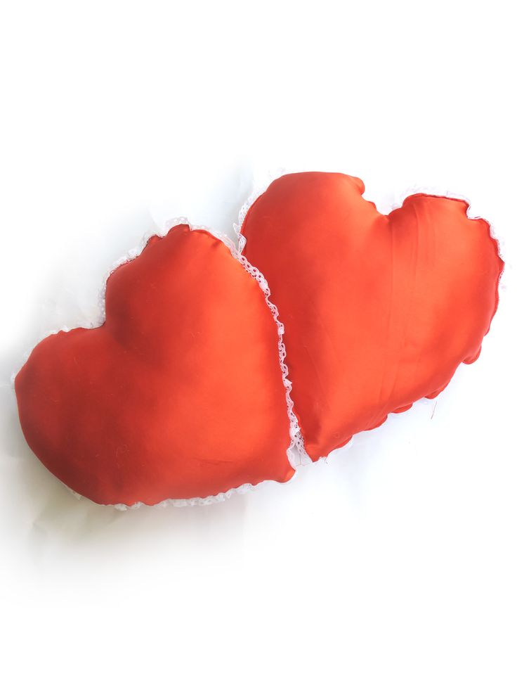 Handmade soft Heart cushion pillow which you will enjoy being bed with your loved and cuddle.