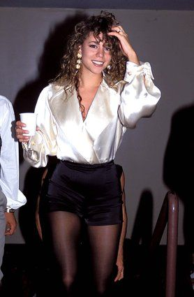 This would actually be back in style now  25 Times Mariah Carey's '90s Style Was On Point