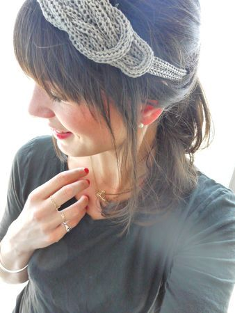 Headband au tricotin