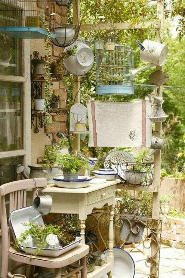 Vintage-Gartengestaltung ist ein wachsender Trend für äußere blühende Räume