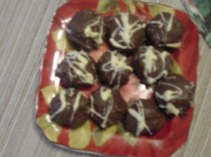 """These are my father in laws favorite: Originally suppose to be spread in a jelly roll pan and cut into squares but he likes them rolled into balls, """"Bigger Bite"""""""