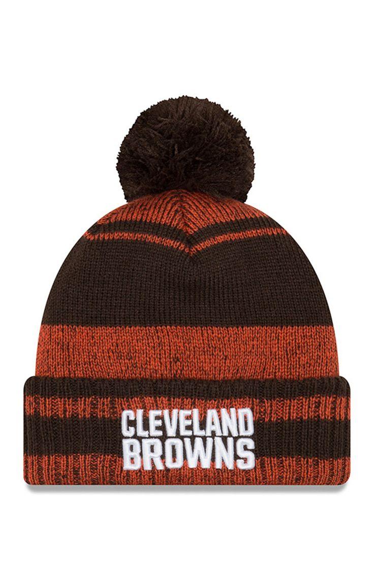 NFL Cleveland Browns Glacial Pom Knit Beanie