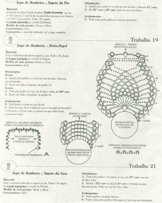 Set De Baño Tejido En Crochet Paso A Paso:Buho set baño 4