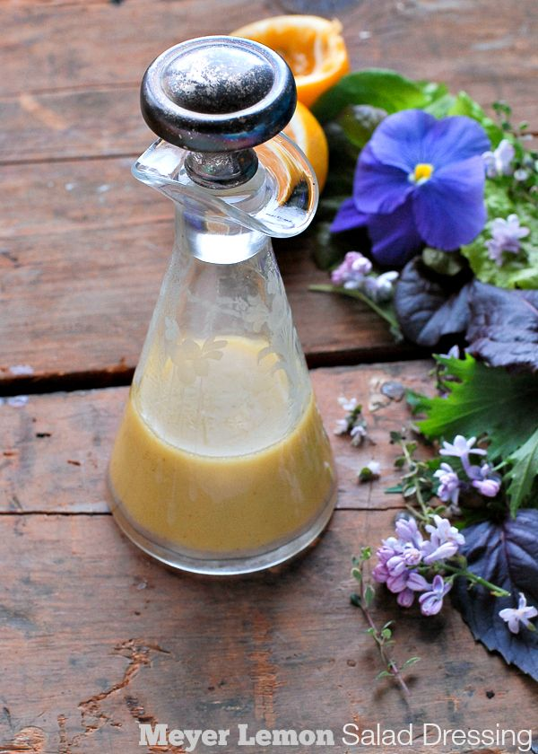 Meyer Lemon Salad Dressing - BoulderLocavore.com