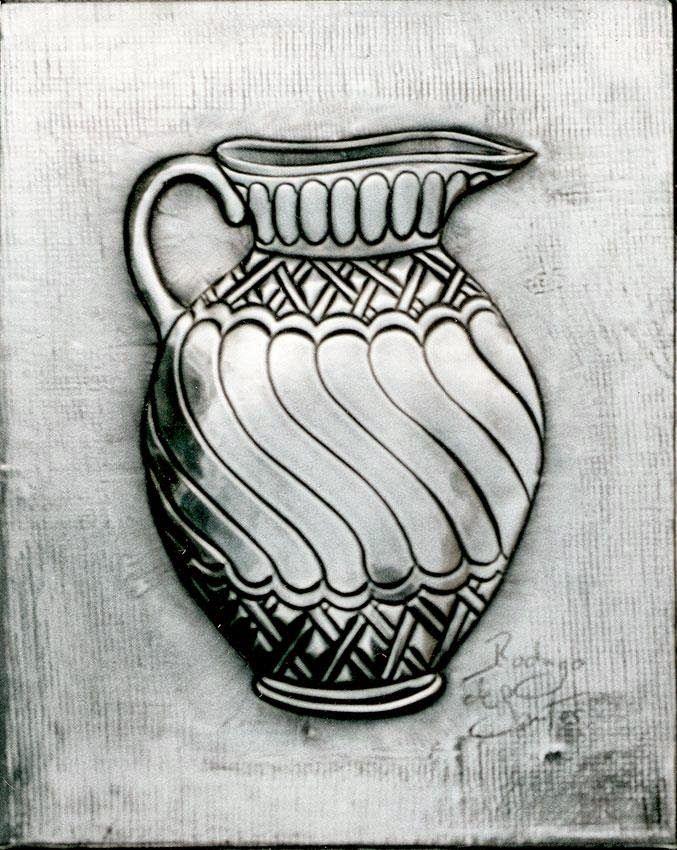 Placa decorativa. Tarro 04 | ArteyMetal