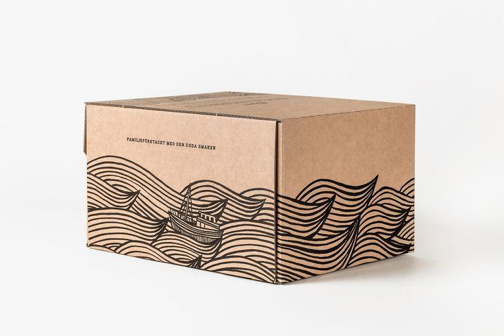 Package design for Biggans Böcklingpastej by Bedow, Sweden