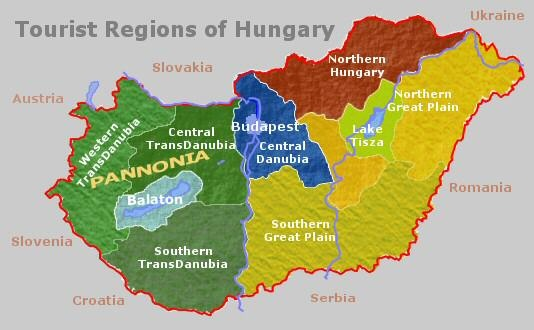 Current Hungary outline of areas of interest
