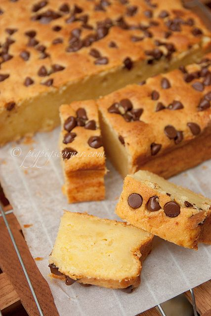 Durian Butter Cake with Chocolate Chips