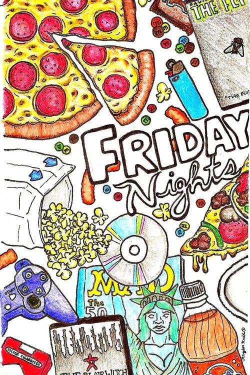 dessin de la nuit de vendredi
