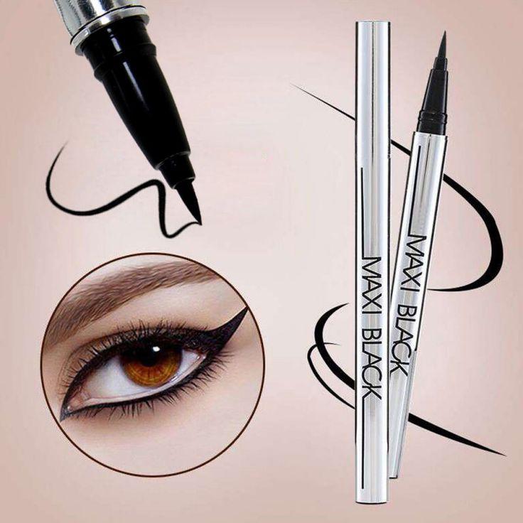 Noir de Beauté Imperméable À L'eau Liquide Eyeliner Pen Eye Liner Pencil Maquillage Cosmétiques Maquiagem