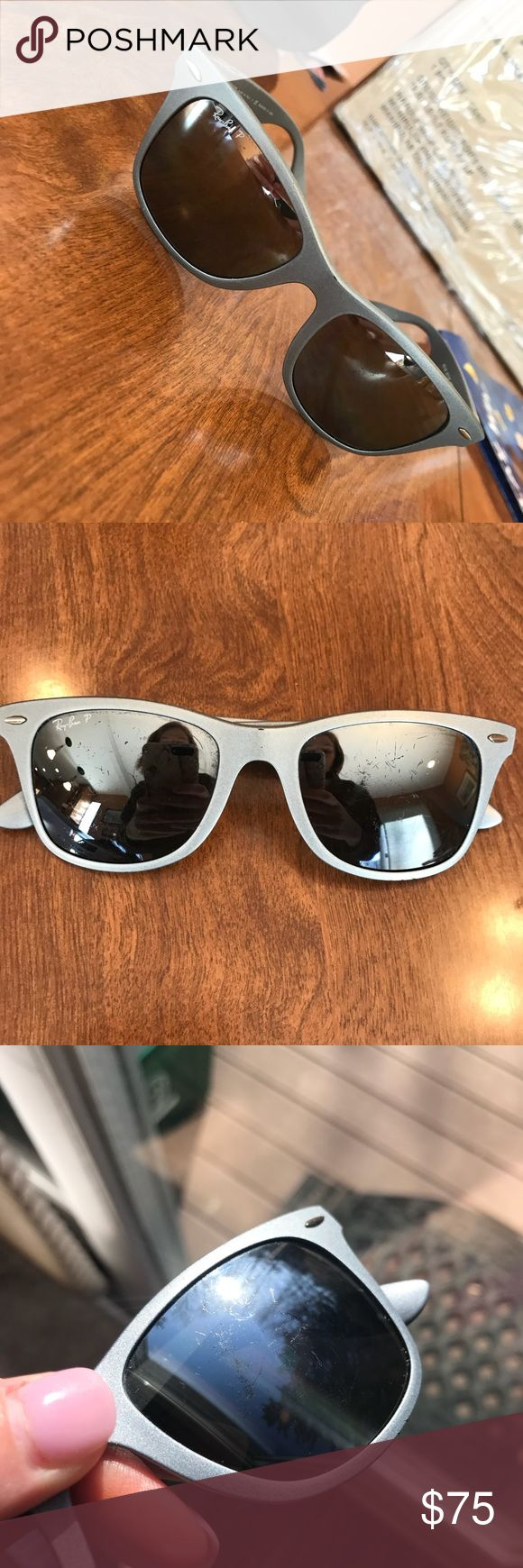 Ray-ban Wayfarer polarized authentic sunglasses Ray ban polarized sunglasses! Please notice scratches on lenses prior to purchasing still have lots of life left! Beautiful sunnies 😍 Ray-Ban Accessories Glasses