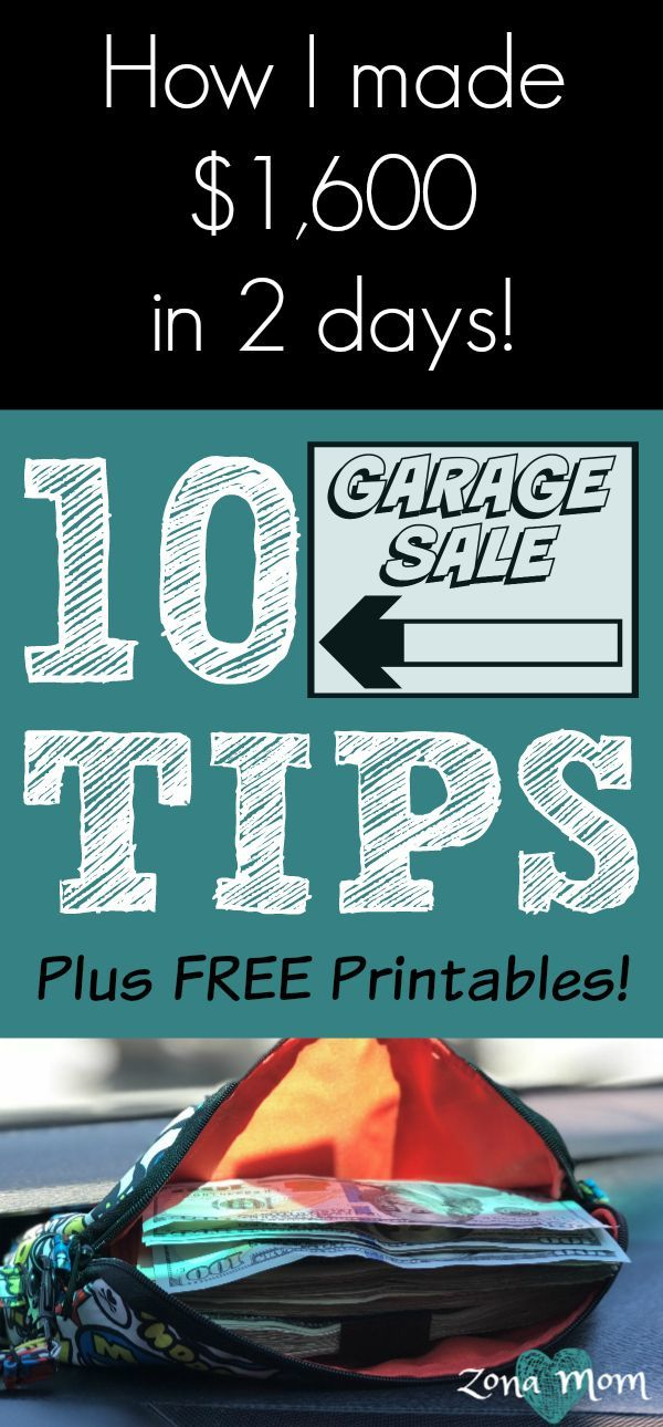 10 Tips For A Successful Garage Sale Free Printables Garage