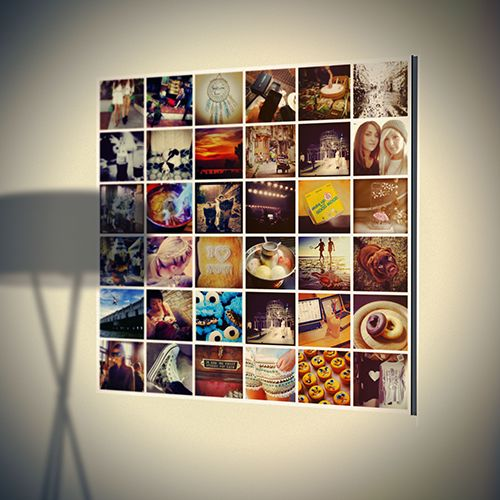 Instawall - Create your dreamwall of memories Your Instagram photo's on aluminium