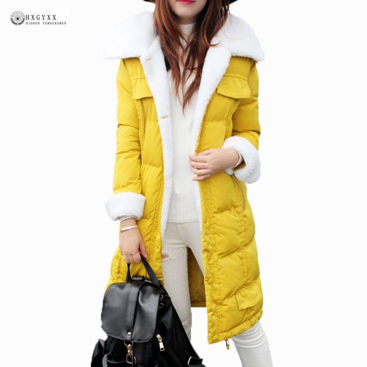 Ukraine Promotion New 2017 Winter Coat Women Plus Size Outerwear Female Medium-long Wadded Jacket Cashmere Warm Parkas Ok906  #Affiliate