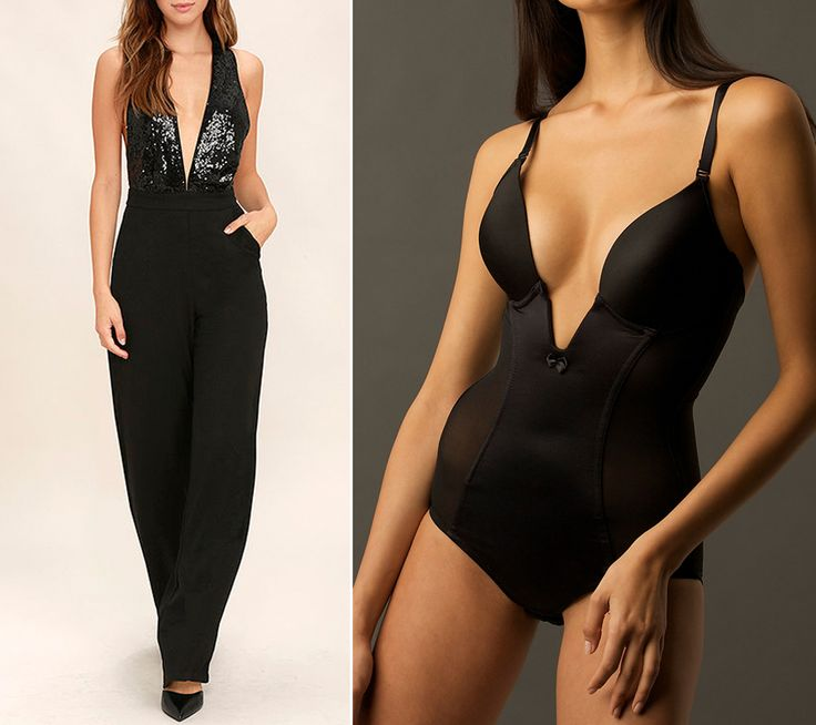 6 Genius Shapewear Solutions for Tricky Holiday Outfits - The Deep-Plunge Bodysuit from InStyle.com