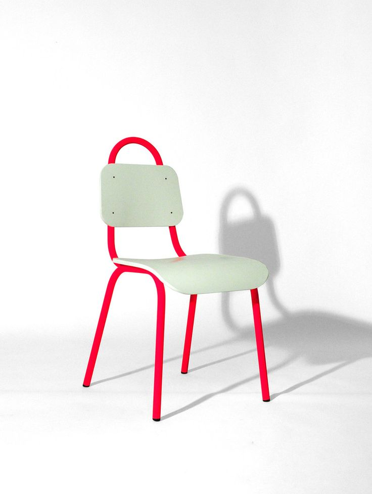 Dining Chair Pink and White – Primary Grey