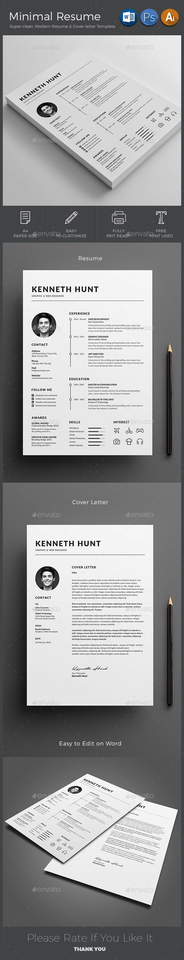 hairdresser resume%0A  Resume  Resumes Stationery Download here  https   graphicriver net