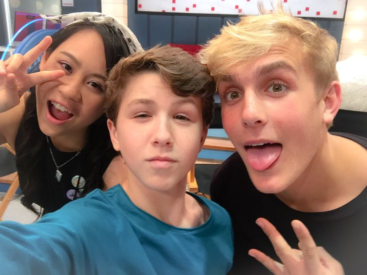 Had a great time interviewing these two - the cast of Disney Channel's latest hit , Bizaardvark. Jake Paul and Ethan Wacker.