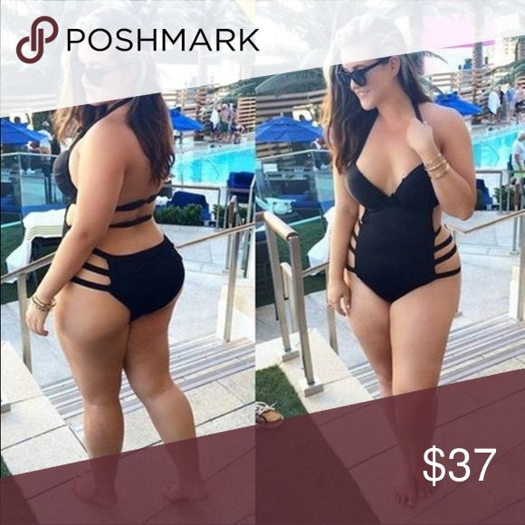 NEW Sexy One-piece Bikini Plus Size(XL-3XL) Women Sexy Black One-piece Bikini Swimsuit Plus Size(XL-3XL)!! Available in all sizes!! Will take a week for me to ship out!  Swim One Pieces