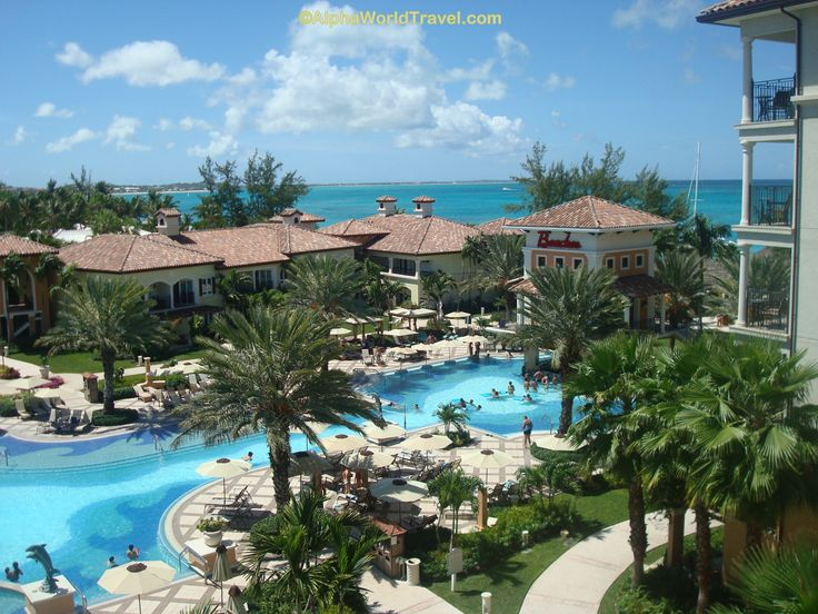 Relax by the large pool in the Italian Village - Beaches Turks & Caicos