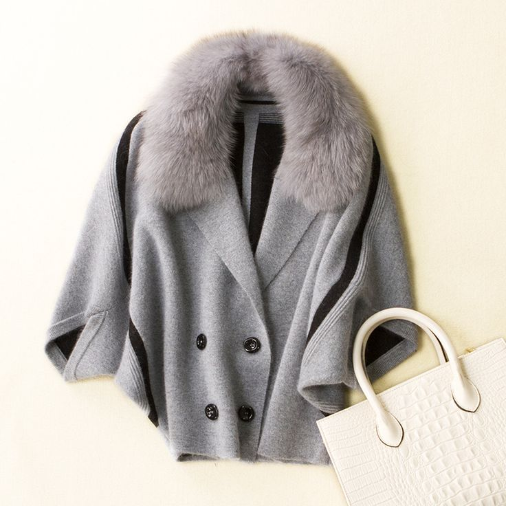 Find More Faux Fur Information about 100%mink cashmere knit fox fur collar short coat for women autumn winter half bat sleeve solid color S/M/L/XL,High Quality for coat,China short fur coat Suppliers, Cheap fur coats for women from newsunny ecru cashmere Store on Aliexpress.com