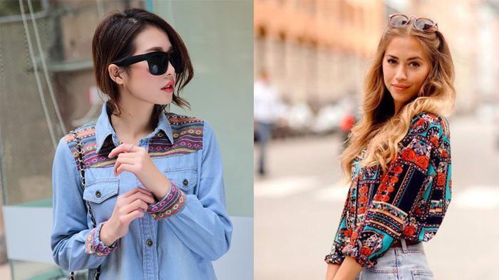 Atasan Motif - 4 Pilihan Baju Etnik dan Tribal, Cocok Untuk ke Kampus Juga Hang Out Girls!