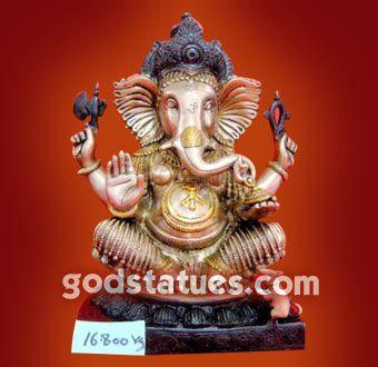 Lord Ganesha in Brass. #godstatues #hindu #art #handicraft  Hindu Gods Statues Handicraft  http://www.godstatues.com/ganesh-ji-brass-statues.html