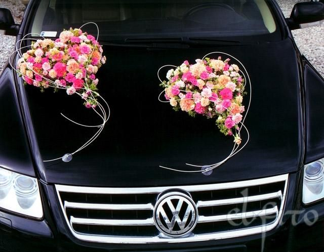 Car wedding flowers