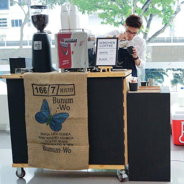 Brewing now @ Nissan Showroom #mobilecoffeesg #kinsmencoffee #Nissan #TeamKinsmen