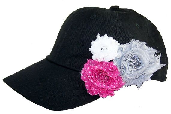 Ladies Black Baseball Cap Rhinestone Baseball by MBellishedHats