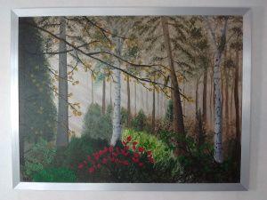 25 beste idee n over bos schilderij op pinterest natuurschilderijen doe het zelf boom - Schilderij in de kamer ...