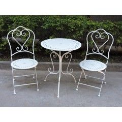 Wrought Iron Zoe Bistro 3 Piece Setting
