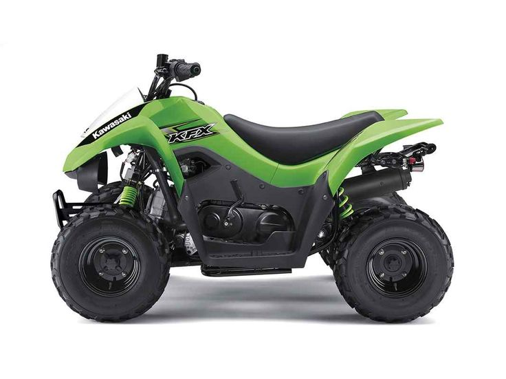 New 2017 Kawasaki KFX®50 ATVs For Sale in Ohio. The KFX®50 ATV is the perfect first ATV to introduce new riders six years and older to the exciting four-wheel lifestyle. 49.5 cc four-stroke engine and automatic transmission delivers smooth beginner-friendly performance Push button electric start provides simple and reliable starting Parental controls such as an engine stop lanyard, adjustable throttle limiter, and CVT collar allow the speed and performance to be adjusted to rider…