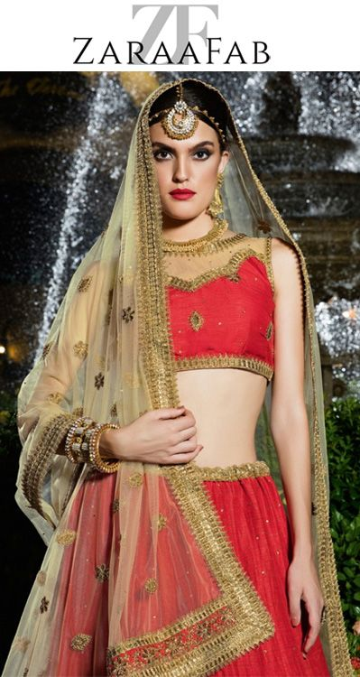 Latest collection of Lehenga-Cholis in wide variety of designs specially crafted to make you look beautiful and gorgeous on the most special day of life. Buy designer lehenga choli, ghagra choli online for women at ZaraaFab across various price ranges. #OnlineLehengaCholi #DesignerLehenga #BridalLehengaCholi #WeddingLehengas