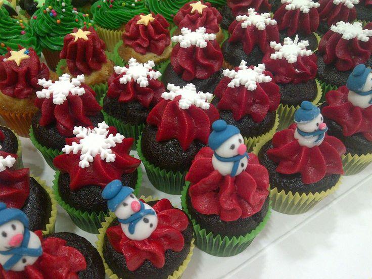 Christmas theme mini cupcake
